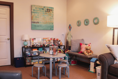 A child therapy session room in Louisville, KY.